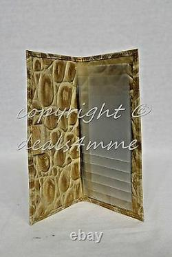 NWT Brahmin Soft Checkbook Wallet in Champagne Orinoco. Beige with Gold accents