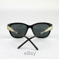 New Burberry Cat-eye Black Sunglasses with Golden Accent 4203 3001/87