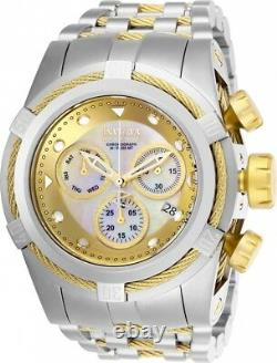 New Invicta Reserve 52mm Bolt Zeus Swiss Movt 0822 M. O. P. Accents and Gold IP