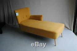New MADE. COM Charley Right Hand Facing Chaise Yolk Yellow