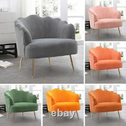 Nordic Upholstered Lounge Accent Chair Home Cafe Sofa Living Bedroom Armchair