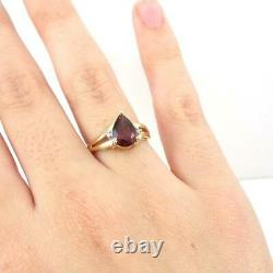 OE ROGER TEST Red Garnet Diamond Accent 10K Yellow Gold Ring Size 7 LHI2