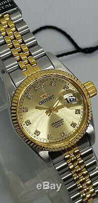 Orient Oyster Diamond Accent NR16002C Ladies Watch Made in Japan