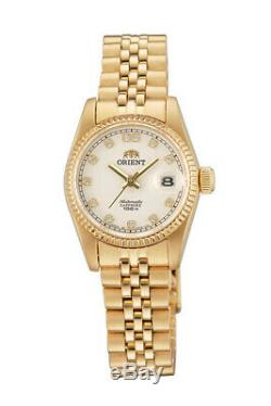 Orient Oyster President Diamond Accent NR16001W Ladies White Dial Made in Japan