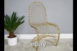 Polished Gold Metal Accent Occasional Chair (dx5927)