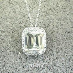 RARE 8.10 Ct Certified Off White Diamond Pendant With Accents in White Gold