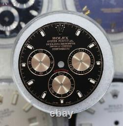 Rolex Cosmograph Daytona BLACK PINK Dial Gold Accents 116505 116515