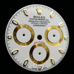 Rolex Cosmograph Daytona WHITE Dial Gold Accents 116508 116503