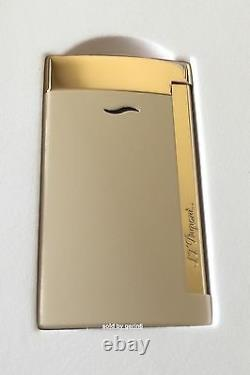 S. T. Dupont Slim 7 Lighter, Nude With Gold Accents, # 27706 (027706), New In Box