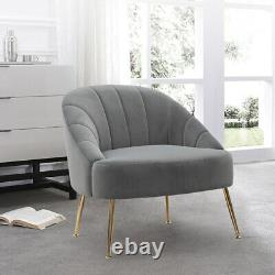 Scallop Back Armchair Accent Tub Chair Sofa Occasional Lounge Bedroom Cafe Seat