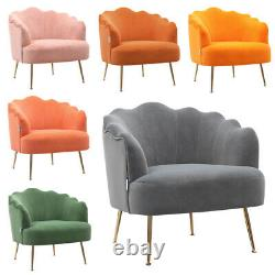 Scallop Back Armchair Cocktail Sofa Accent Seat Living Bedroom Cafe Lounge Sofa