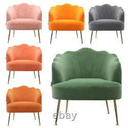 Scallop Back Armchair Lotus Petal Tub Seat Lounge Occasional Accent Sofa Chair