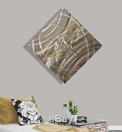 Statements2000 3D Metal Wall Art Abstract Silver Gold Accent Decor by Jon Allen