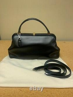 The Row Women's Handbags Small Doctors Black With Gold Accents