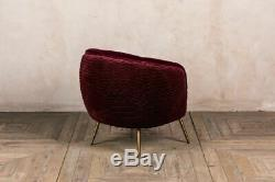 Velvet Tub Chair Accent Occassional Chair Luxurious Velvet Seating 3 Colours