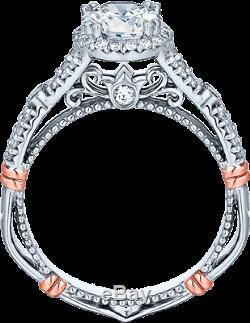 Verragio 14k White Gold with Rose Gold Accents Engagement Ring Parisian-109R