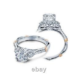 Verragio 18k White Gold with Rose Gold Accents Engagement Ring Parisian DL128