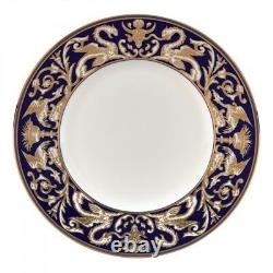 WEDGWOOD Renaissance Gold Scroll Accent Salad Plate 9 Set of 4