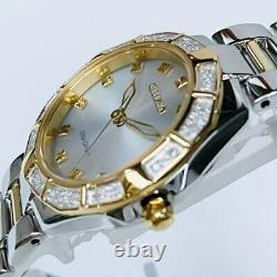 Womens Citizen Watch EM0834-51A Eco-drive Corso 2-Tone Stainless Diamond Accent