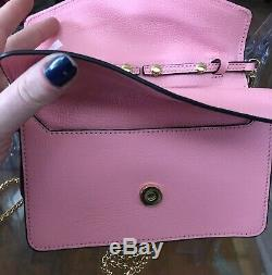 Womens handbag, Coccinelle, pink leather, gold accent, $475, NWT, Authentic